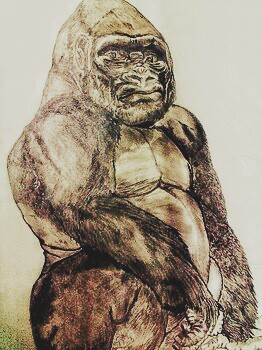 Gorilla Acrylic on Canvas Painting