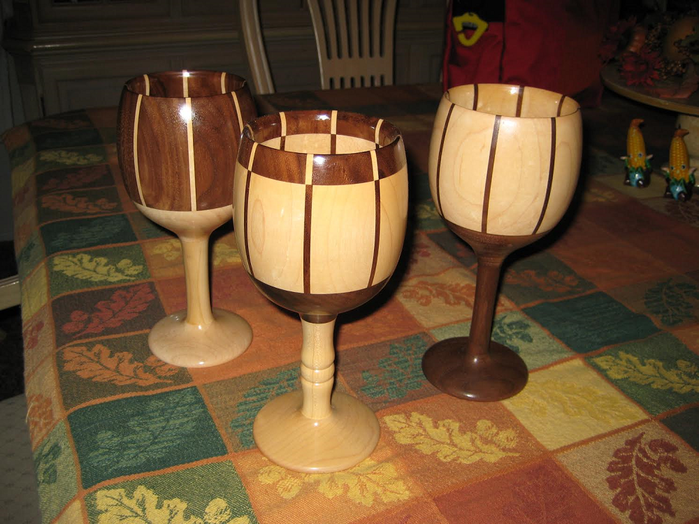 Wooden Art 3 Set Glass