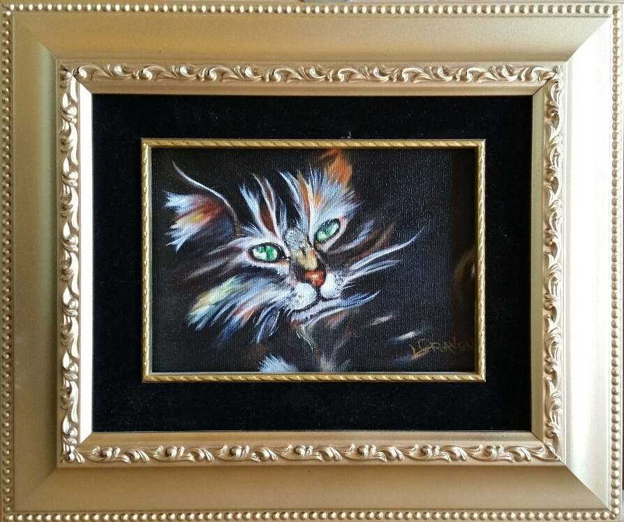 Cat Oil on Canvas Painting Online